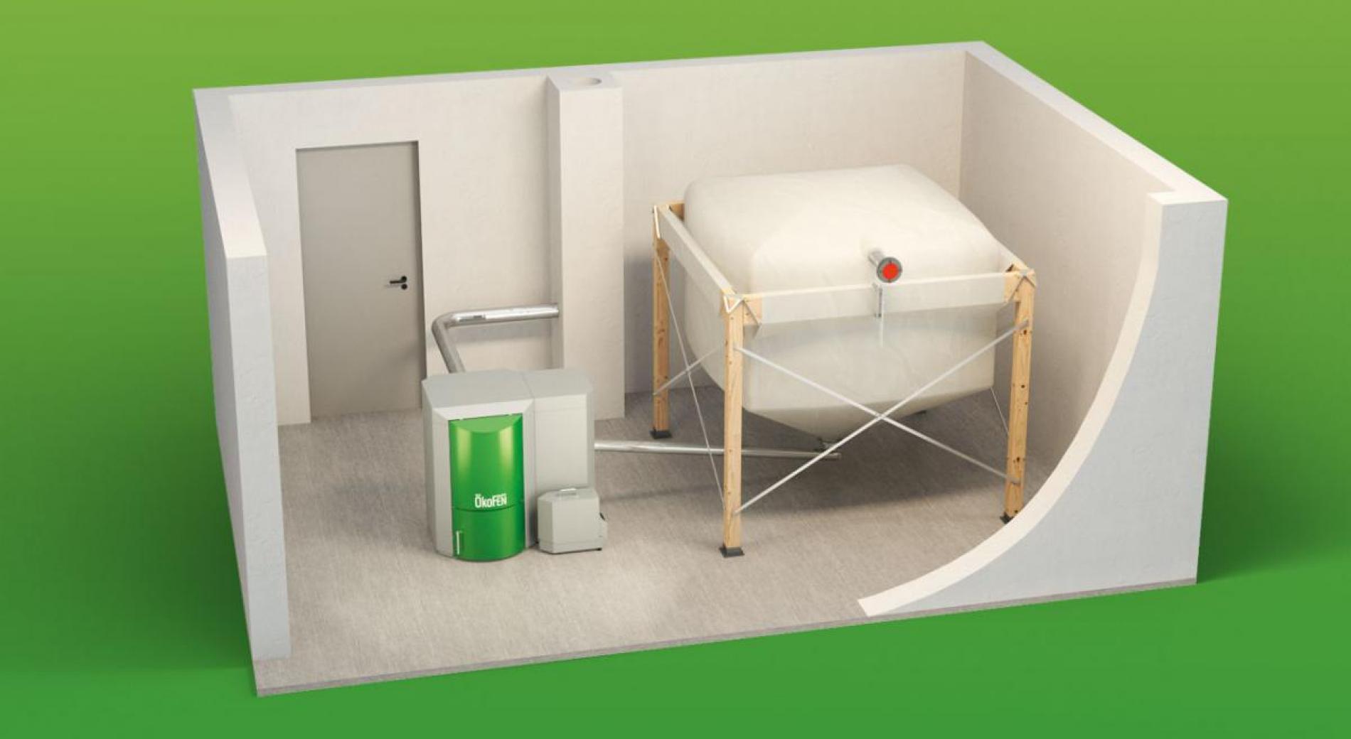 Principe d'installation avec silo textile et alimentation par vis